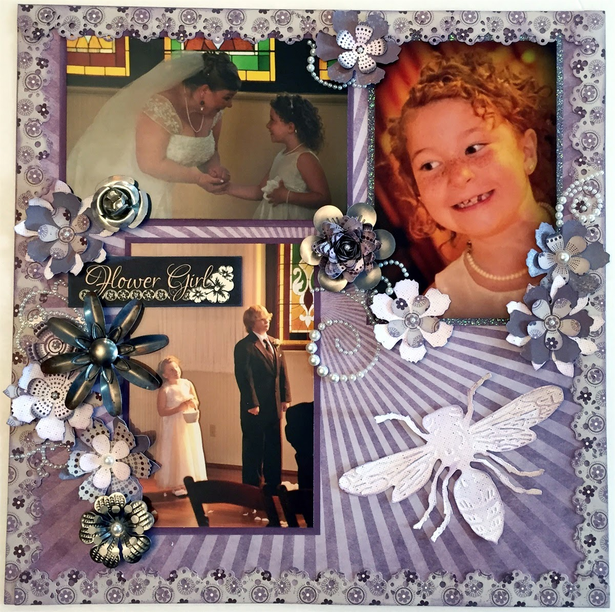 Flower Girl Scrapbook Page by Alicia O'Bryant for Quick Quotes featuring Alton Paper Collection