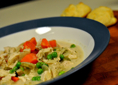 Creamy Slow-Cooker Chicken with Vegetables and Simple Olive Oil Drop Biscuits - Photo by Taste As You Go