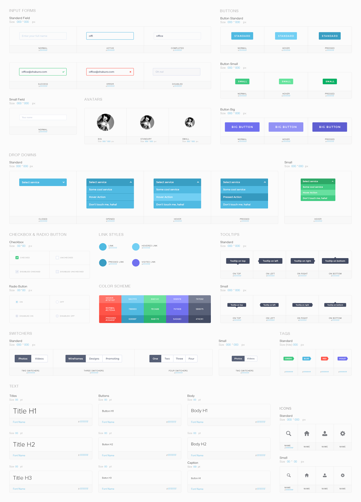Conditions UI Kit PSD