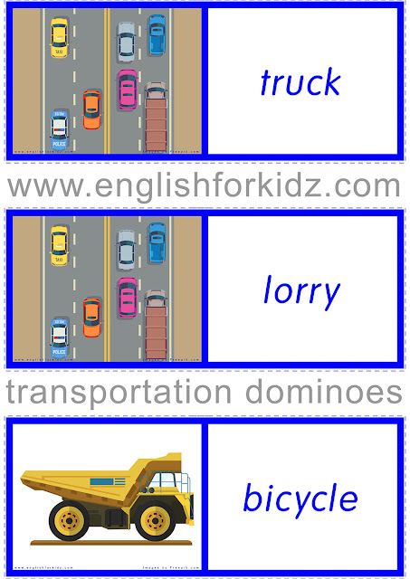 Transport domino game