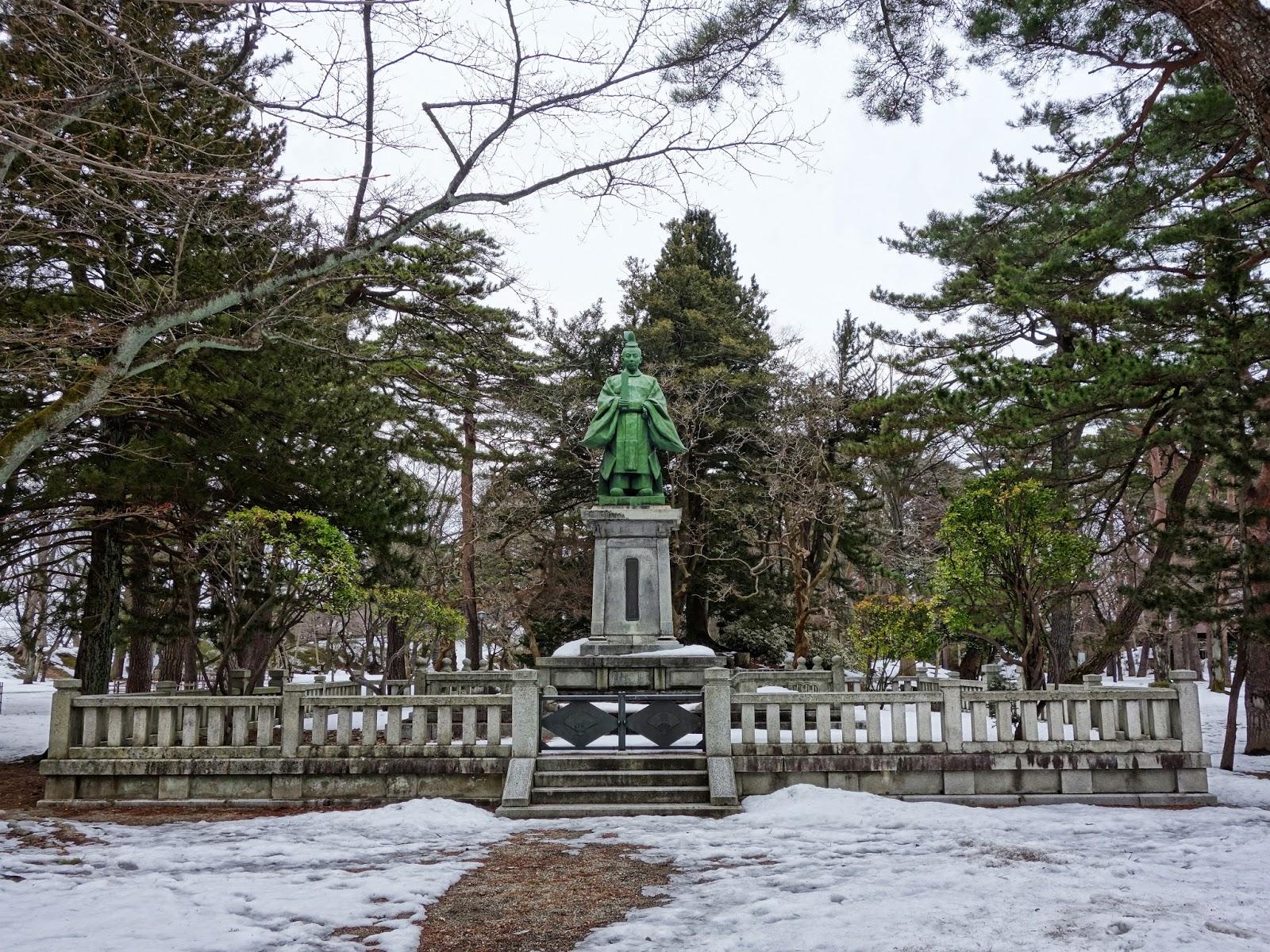 Yoshitaka Statue, Senshu Park, Akita City