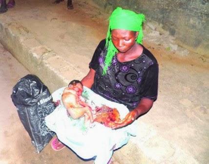 woman dead baby lagos sack