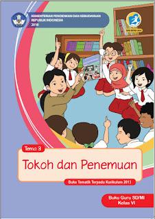 Tema 3 Buku Guru Kelas 6-VI Kurikulum 2013 Revisi 2018