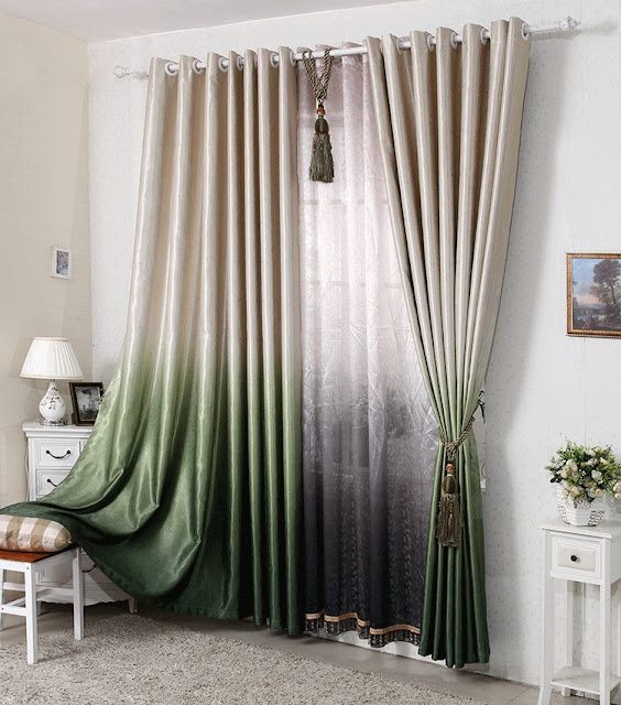 Ombre style modern curtain designs with great look