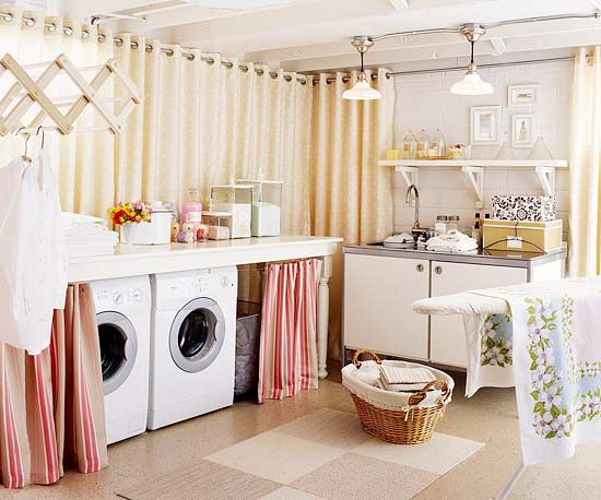 ideas for hiding the washer and dryer