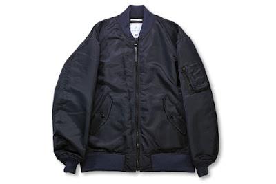 BLACK&BLUE [ ミリタリーフライトジャケット ] ダークネイビー