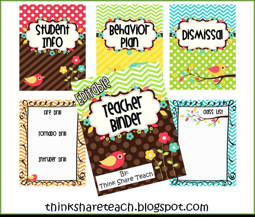 Think * Share * Teach: Monday Made It: Teacher Binder