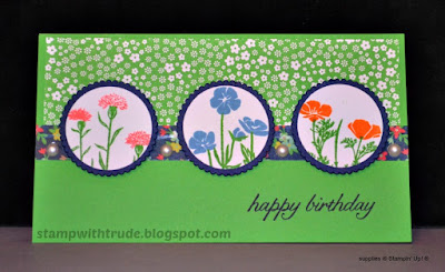 Tuesday Tutorial, Wild About Flowers, Stampin' Up!, Stamp with Trude, floral, birthday card