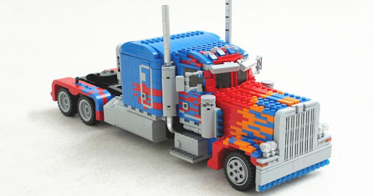 LEGO custom Transformer MOC Optimus Prime