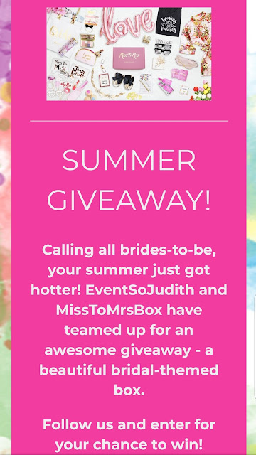 Summer sweepstakes, contest, enter to win, bridal contest, engaged, wedding season