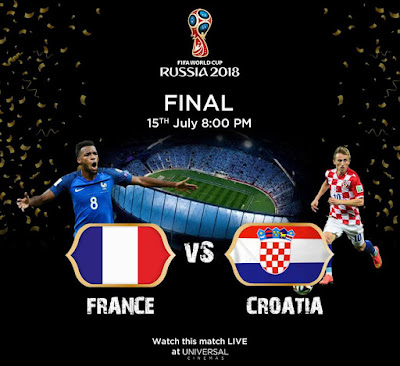 FINAL WORLD CUP FRANCE VS CROATIA LIVE STREAM 15.7.2018