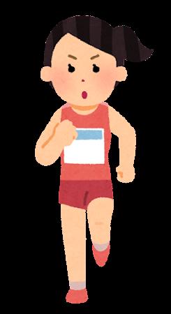 マラソン選手のイラスト(女性)