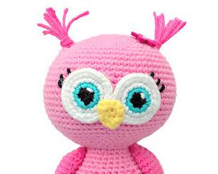 Amigurumi Pink owl free crochet pattern