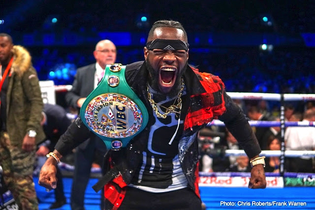 Deontay Wilder Vs Tyson Fury set For Dec 1