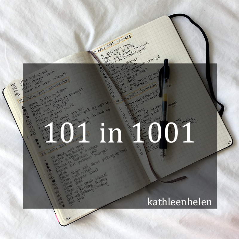 101 things in 1001 days | kathleenhelen