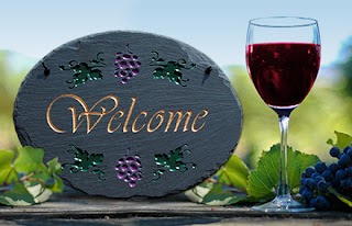 placa welcome vinicola