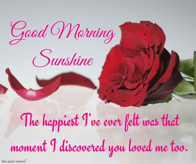 good morning sunshine message for her