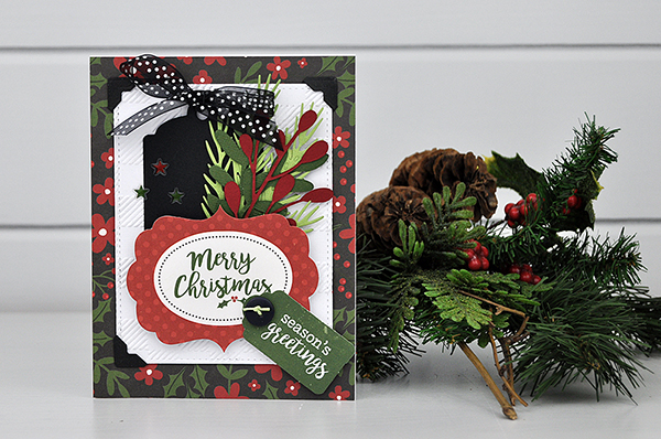 Merry Christmas tag card designed by Jen Gallacher for www.echoparkpaper.com. #cardmaker #christmascard #jengallacher #echoparkpaper