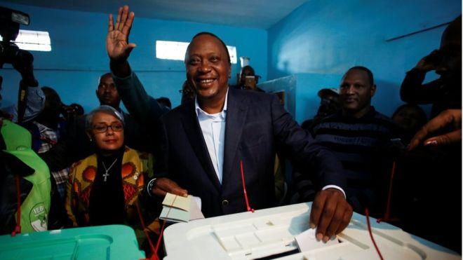 Breaking: Kenya election: Uhuru Kenyatta 'defeats Raila Odinga'