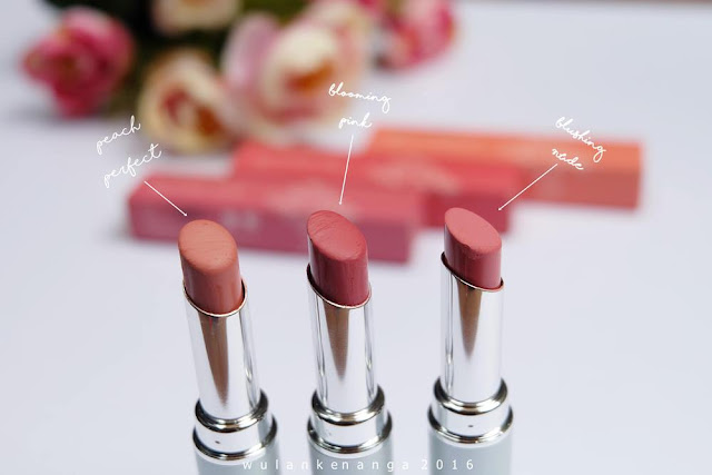 Review Wardah Intense Matte Lipstick - Blooming Pink, Blushing Nude, Peach Perfect