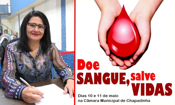 Vereadora de Chapadinha promove mutirão de doação de sangue na Câmara.