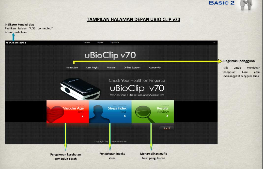 Cek Kesehatan Anda menggunakan uBio Clip v70 Macpa