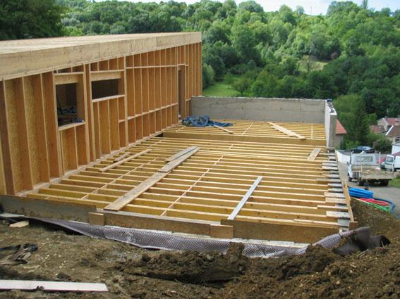 notre maison ossature bois bioclimatique coup de bourre. Black Bedroom Furniture Sets. Home Design Ideas