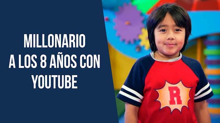 El niño de 8 años que gana $26 millones de dólares al año con Youtube - Ryan Kaji