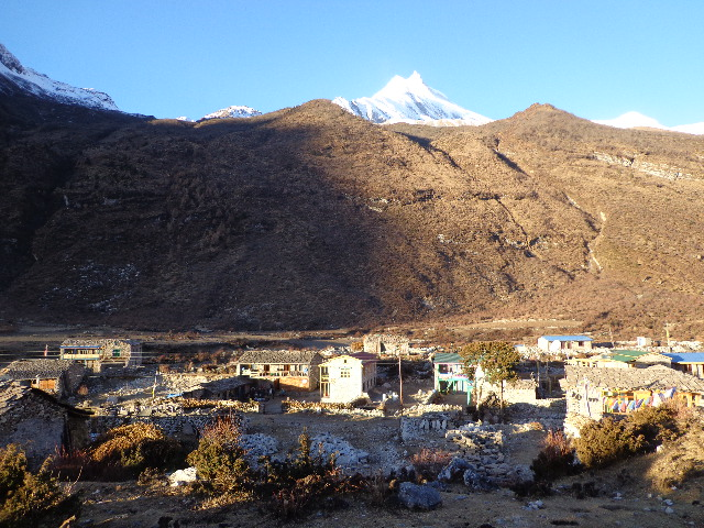Sama village is the beautiful village in the Manaslu trek Nepal.