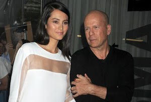 Bruce Willis still complicit with his divine wife present for the premiere of her new movie!