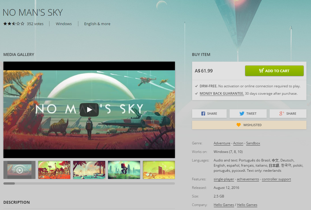 No Man's Sky Released to Mixed Reviews