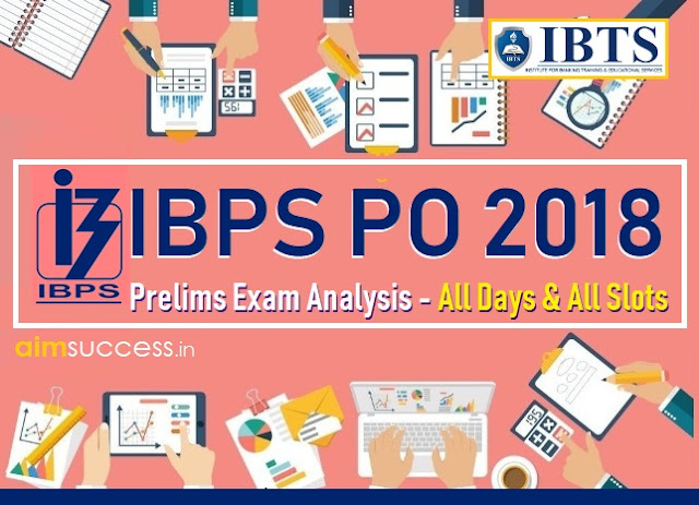 IBPS PO Prelims Exam Analysis 2018 - All Days & All Slots