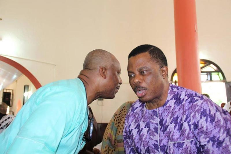 Obiano, wife, others at burial ceremony of Anambra deputy governor's father