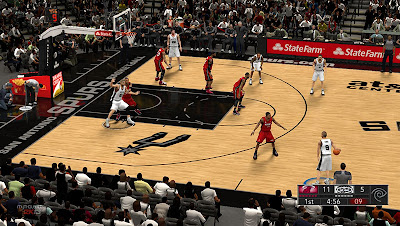 NBA 2K13 Spurs AT&T Center Court Patch