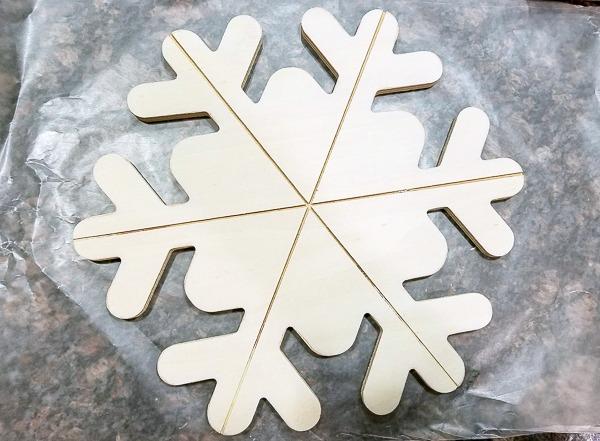 $3 wood snowflake