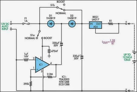 Easy Circuit Lab: Simple Battery Charger Circuit Charges