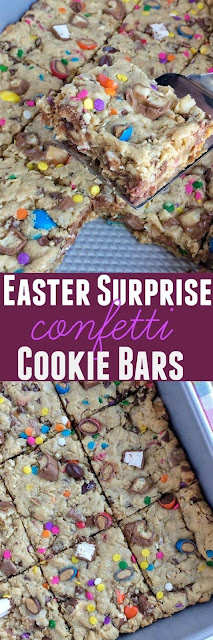 Easter Surprise Confetti Cookie Bars