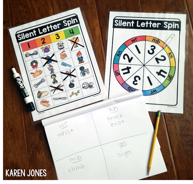 silent letters activity for guided reading