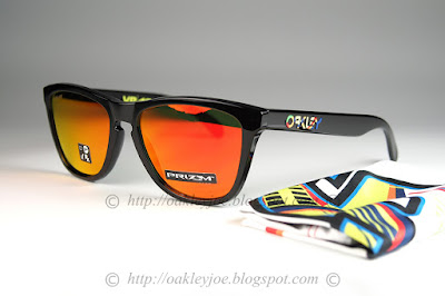 75f55b231a OO9013-E655 Frogskins Valentino Rossi moss + prizm ruby iridium  235 lens  pre coated with Oakley hydrophobic nano solution