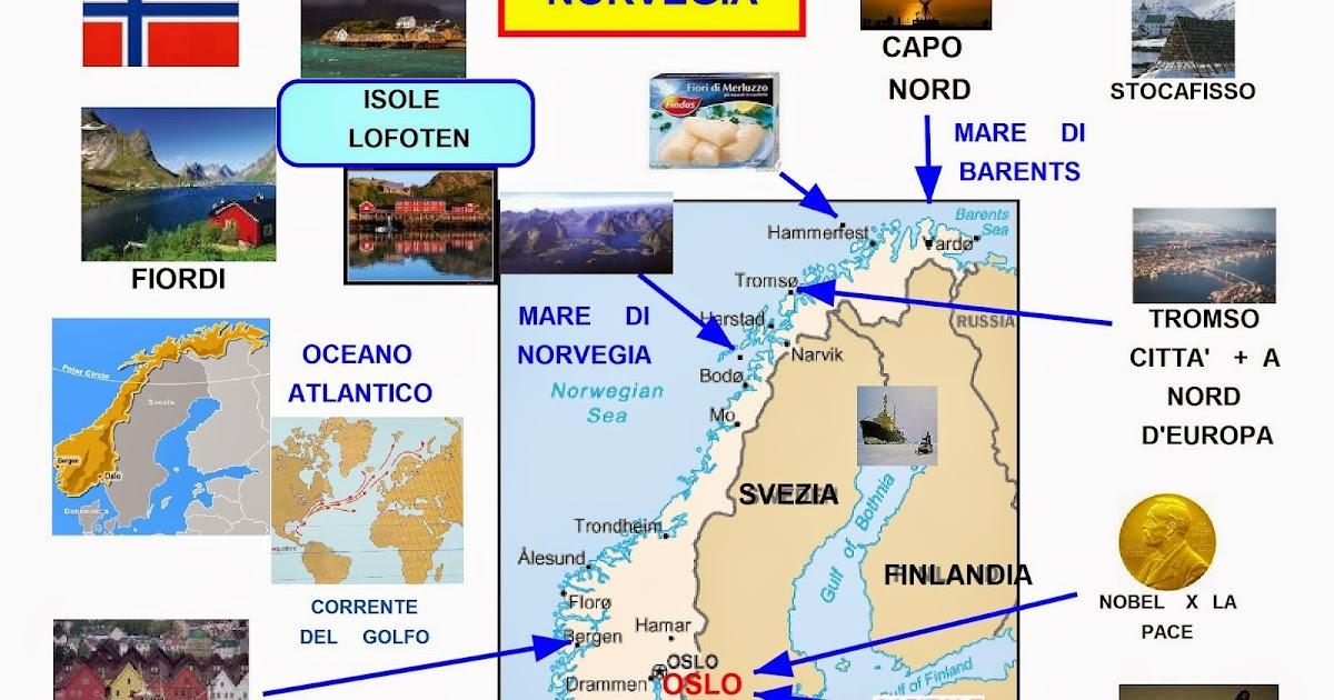 Cartina Della Norvegia Da Stampare.Mappa Concettuale Norvegia Carta Scuolissima Com