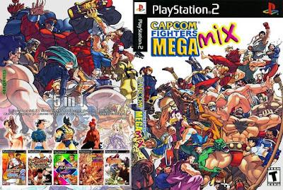 Jogo CAPCOM Fighters Mega Mix PS2 DVD Capa