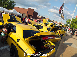 Dodge Challenger Yellow Jacket Ram Rumble Bee Rear Angle