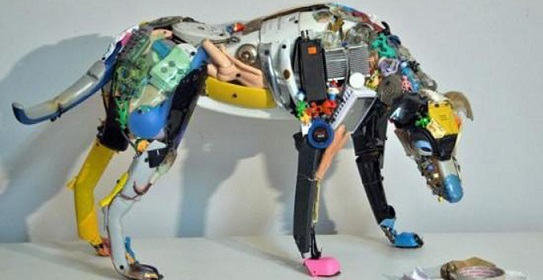 art made from recycled materials