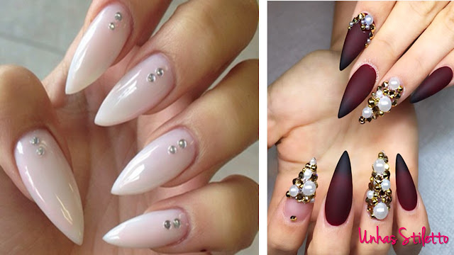stiletto nails, unhas stiletto