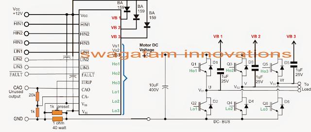 3 phase brushless bldc motor driver circuit electronic for Bldc motor driver circuit