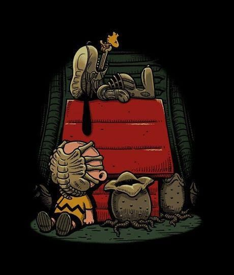 Alien Snoopy and Peanuts funny cartoon picture