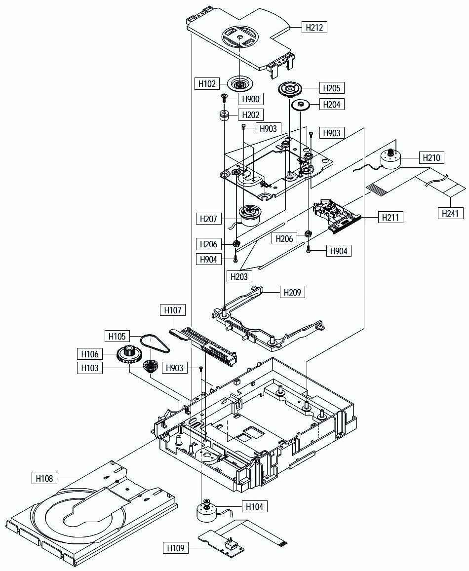 SAMSUNG DVD-P244 – EXPLODED VIEW