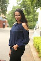 Poojita Super Cute Smile in Blue Top black Trousers at Darsakudu press meet ~ Celebrities Galleries 058.JPG