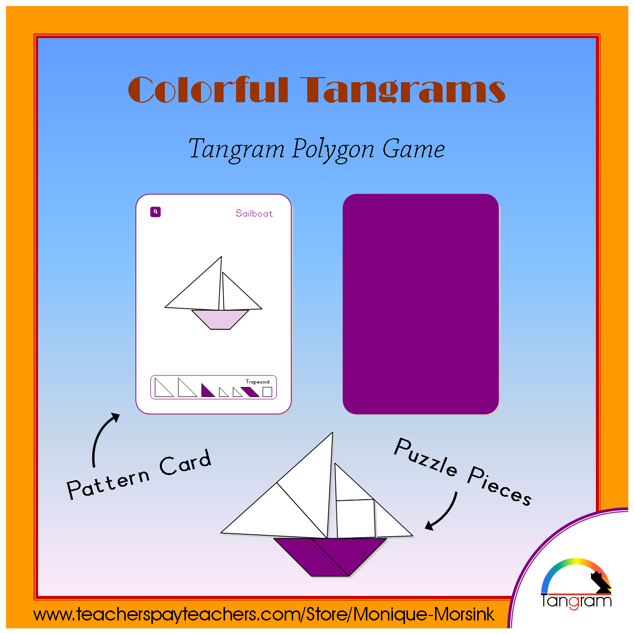 Colorful Tangrams Pirates