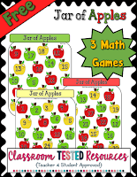 Free Jar of Apples Math Game